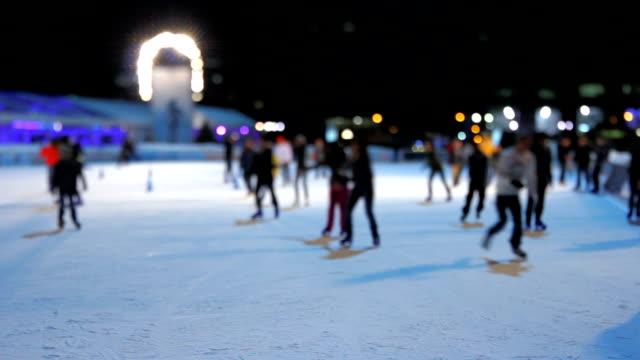 Ice Skating Night Tilt Shift video
