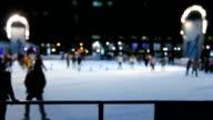 Ice Skating Time Lapse Tilt Shift video