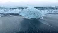 HD: Iceberg Beach Jokulsarlon lagoon Iceland video