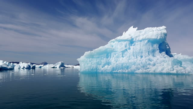 Iceberg fjord in Greenland video