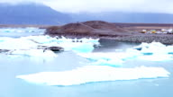 Iceberg floating at Jokulsarlon video