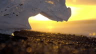 SLO MO Iceberg melting at sunset video