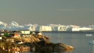 Icebergs in Disco bay video