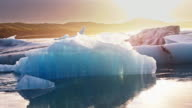 Icebergs in Jokulsarlon video
