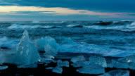 Icebergs on Black Sand Beach video