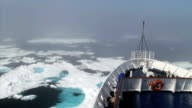 Icebreaker Moving through Ice in the Arctic video