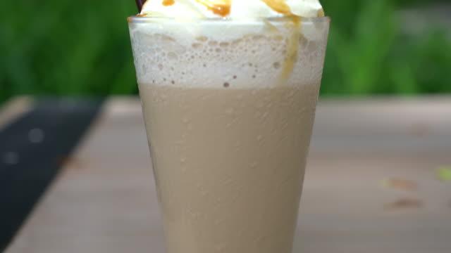 iced cappuccino coffee video