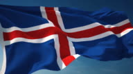 4K Iceland Flag - Loopable video