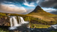 Iceland Landscape with Rainbow - Kirkjufell video