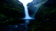 Iceland River Waterfall video