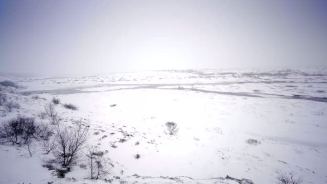 Iceland scenic landscape nature winter snow cold outside golden circle cold tourism video