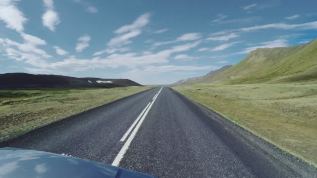 Iceland seen from car window. Volcanic landscape video