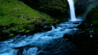 Iceland Waterfall River Valley video