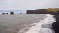 SLO MO DS Icelandic rocky coastline video
