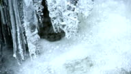 Icicles Hanging Over Pure Creek PAN video