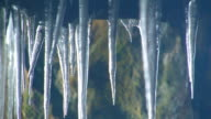 Icicles in cave video