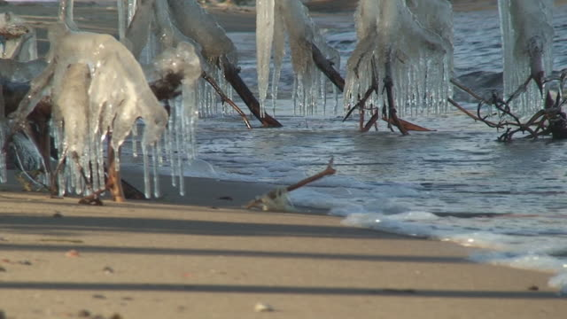 Icicles on the Beach video
