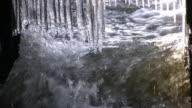 Icicles under a bridge video