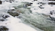 Icy Mountain Stream dolly shot video