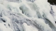 Icy Mountain Waterfall Close Up video