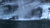 Icy Waterfall at Cloudland Canyon 1005-08 video