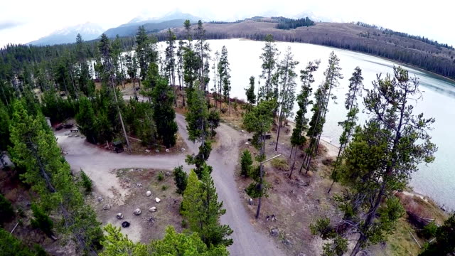 Idaho campground in the mountains with a lake video