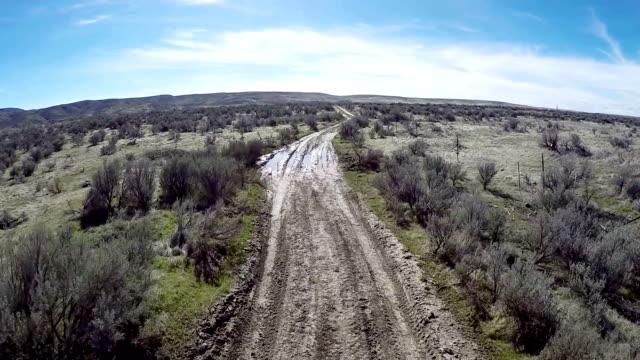 Idaho desert and dirt road surrounded by sagebrush video