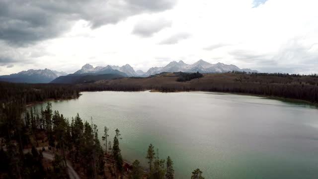 Idaho mountain lake and mountains video