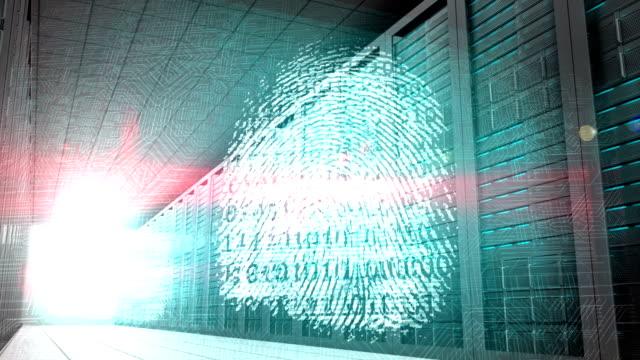 Identity graphics in server room video