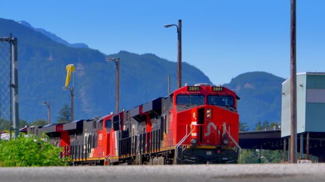 Idling Heavy Diesel Freight Train Engines Locomotive Engines Railway video