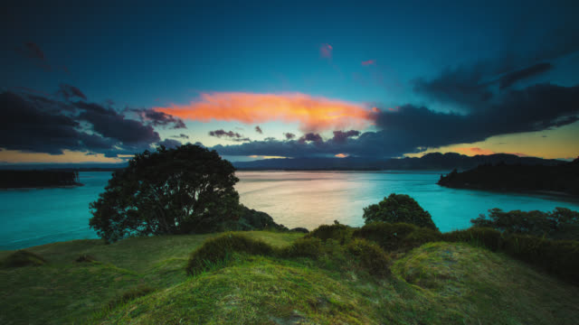 TIME LAPSE: Idyllic Landscape Sunset video