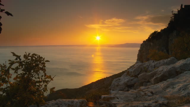 HD DOLLY: Idyllic Mediterranean Sunset video