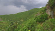 Idyllic place with waterfall video