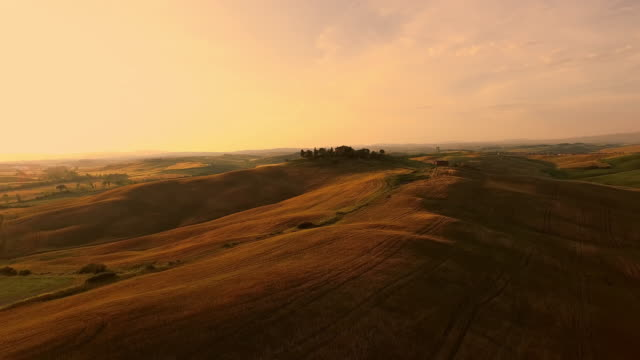 AERIAL Idyllic Tuscan countryside video