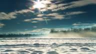 HD DOLLY: Idyllic Winter Countryside video