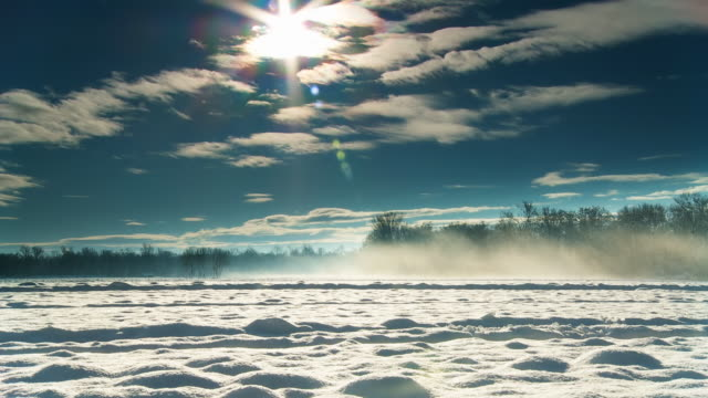 HD DOLLY: Idyllic Winter Countryside video