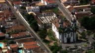 Igreja São Francisco  - Aerial View - Minas Gerais, São João del Rei, Brazil video