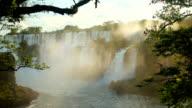 Iguazu Falls in Argentina. video