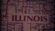1937: Illinois, Iowa, South Dakota Map fade out effect for home video intro. video