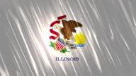 Illinois State Loopable Flag video