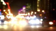 Illuminated New Arbat Avenue in night, Moscow video