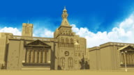 3D illustrated Style City Animation video