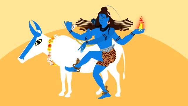 Illustration of Lord Shiva and Nandi the Bull video