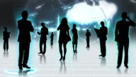 3D Images Professional People Using Business Networking video