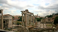 Imperial forum in Rome, Italy video