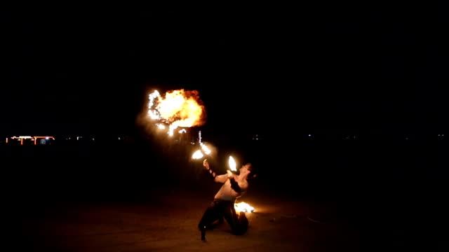Impressive fire show video