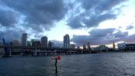 Impressive Miami Downtown skyline in the evening video