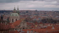Impressive overlook over the city of Prague video