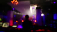 HD DJ in Disco Back View (Defocused) video