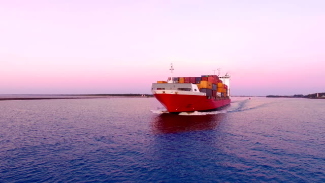 HD - In front of cargo ship video